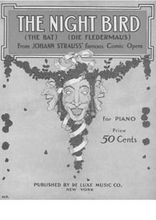 Die Fledermaus (The Bat): Chanson à boire, for piano by Johann Strauss (Sohn)