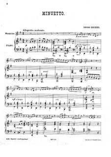 Minuet in G Major: Minuet in G Major by Georg Becker