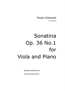 Sonatina No.1: For violin and piano (high quality sheet music) by Muzio Clementi