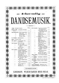 Dagmar Polka: For piano four hands by Hans Christian Lumbye