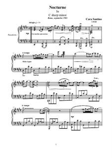 Nocturne in C sharp minor for piano, CS528: Nocturne in C sharp minor for piano by Santino Cara