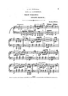 West Virginia Grand March: West Virginia Grand March by E. A. Weber
