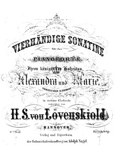 Sonatina for Piano Four Hands, Op.27: Sonatina for Piano Four Hands by Herman Severin Lovenskjold