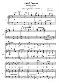 Griselda: Per la gloria d'adorarvi by Giovanni Battista Bononcini