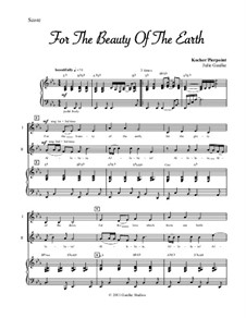 For the Beauty of the Earth: For voices and piano by Conrad Kocher