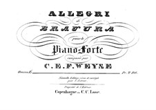 Allegro di bravura in E Flat Major, Op.16: For piano by Christopher Ernst Friedrich Weyse