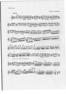Andante for violin solo: Andante for violin solo by Gregory Ayriyan