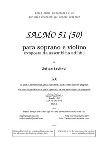 Psalm 51 for soprano and violin (2005): Psalm 51 for soprano and violin (2005) by Zoltan Paulinyi