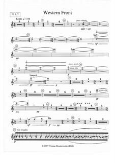 Western Front: Orchestral parts by Nancy Van de Vate