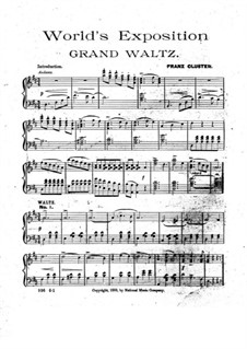World's Exposition. Grand Waltz: World's Exposition. Grand Waltz by Franz Cluster