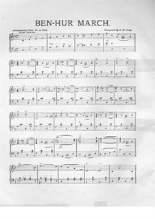 Ben-Hur March: For piano by J. H. Cody