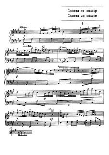 Sonata for Keyboard in A Major: Sonata for Keyboard in A Major by Carl Philipp Emanuel Bach