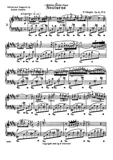 No.3 in B Major: For piano by Frédéric Chopin
