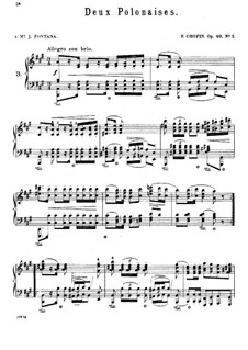 Polonaises, Op.40: No.1 for piano in A Major by Frédéric Chopin