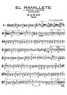 El ramillete. Three Easy Pieces: For guitar by Pedro Antonio Iparraguirre