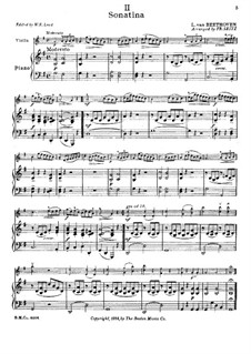 Sonatina in G Major: Version for violin and piano by Ludwig van Beethoven