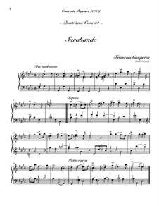 Concerto for Harpsichord No.4: Sarabande by François Couperin