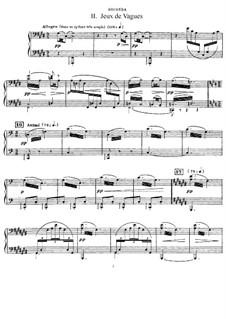 La mer (The Sea), L.109: No.2 Jeux de vagues, for Piano Four Hands by Claude Debussy