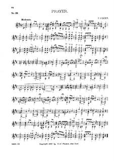 Guitar Album, Op.27: No.31 Prayer by Charles James Dorn