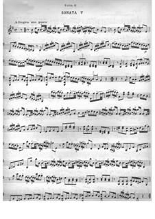 Six Sonatas for Two Violins: Sonata No.5 by Jean-Marie Leclair