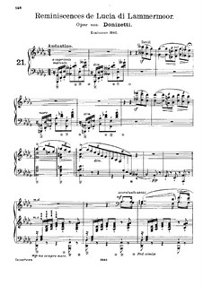 Réminiscences de 'Lucia di Lammermoor'. Transcription on Themes by Donizetti, S.397: For piano by Franz Liszt