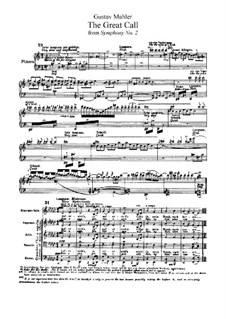 Symphony No.2 in C Minor 'Resurrection': Movement V, for voices and piano by Gustav Mahler