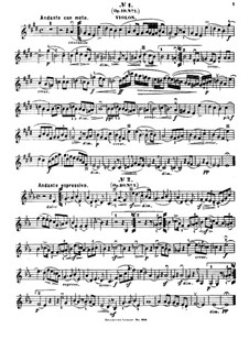 Selected Songs without Words for Violin and Piano: Violin part by Felix Mendelssohn-Bartholdy