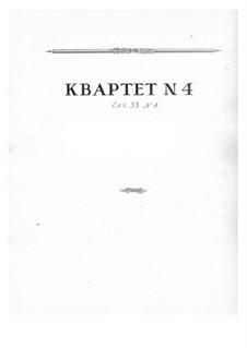 Four String Quartets, Op.33: Quartet No.4 by Nikolai Myaskovsky