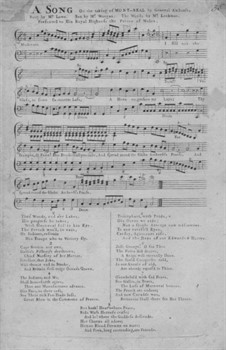 A Song on the Taking of Mont-real by General Amherst: A Song on the Taking of Mont-real by General Amherst by John Worgan