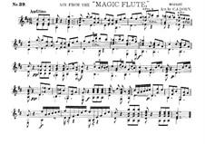 Bei Männern welche Liebe fühlen: For guitar by Wolfgang Amadeus Mozart