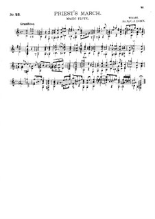 March of the Priests: For guitar by Wolfgang Amadeus Mozart