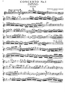 Concerto for Flute and Orchestra No.1 in G Major, K.313: Movement I – solo part by Wolfgang Amadeus Mozart