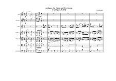 Andante for Flute and Orchestra in C Major, K.315: Full score by Wolfgang Amadeus Mozart