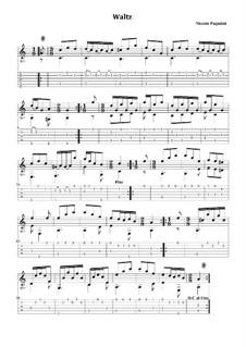 Waltz in C Major, MS 92: For guitar with tabulatura by Niccolò Paganini