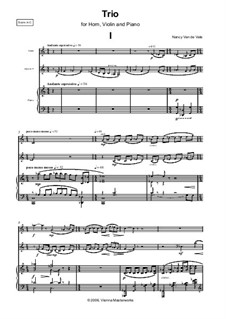 Trio for Horn, Violin and Piano: Full score and parts by Nancy Van de Vate