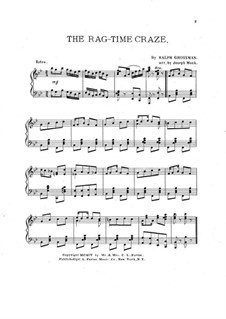 The Rag-Time Craze: For piano by Ralph Grossman