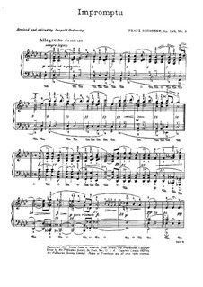 Four Impromptus for Piano, D.935 Op.142: Impromptu No.2 (with fingering) by Franz Schubert