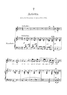 Se tu m'ami, se sospiri: Piano-vocal score (F Minor) by Giovanni Battista Pergolesi