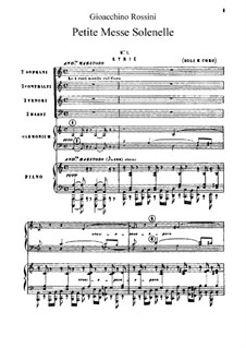Petite Messe Solennelle: Movement I. Kyrie by Gioacchino Rossini