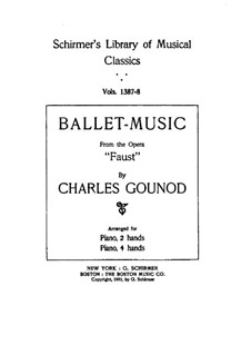 Faust: Ballet Music, for piano by Charles Gounod