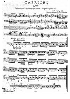 Twelve Caprices for Cello, Op.25: Caprice No.1 by Carlo Alfredo Piatti