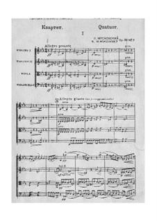Four String Quartets, Op.33: Quartet No.2 by Nikolai Myaskovsky