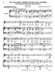 Circle of Songs, Op.24: No.3 Ich wandelte unter Bäumen (We Walked under Woodland) by Robert Schumann