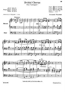 Bridal Chorus: For organ by Richard Wagner