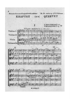 String Quartet No.8, Op.59: Full score by Nikolai Myaskovsky