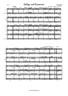 Galop and Eight Ecossaises, D.735: For salon orchestra by Franz Schubert