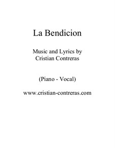 La bendicion (jazz piano-vocal): La bendicion (jazz piano-vocal) by Cristian Contreras