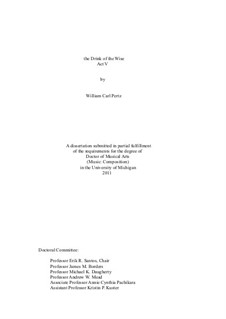The Drink of the Wise, Act V: The Drink of the Wise, Act V by William Pertz