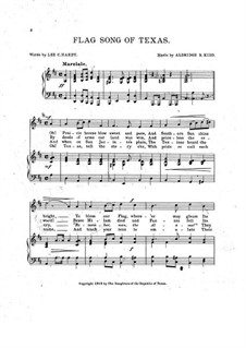 Flag Song of Texas for Voice, Choir and Piano: Flag Song of Texas for Voice, Choir and Piano by Aldridge B. Kidd