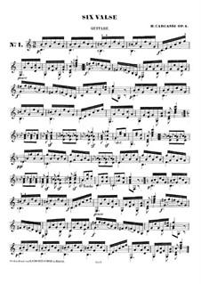 Six Waltzes, Op.4: Complete set by Matteo Carcassi